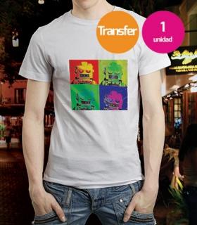 Camiseta Blanca Transfer 1 unidad