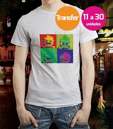 Camiseta Blanca Transfer 11 a 30 unidades