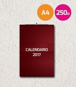Calendarios A4 250 unidades