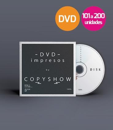 DVD impreso 101 a 200 unidades