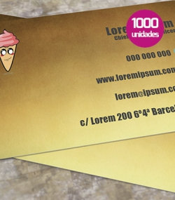 Tarjetas de PVC 1000 unidades