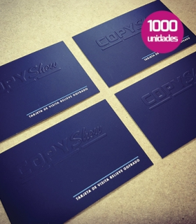 Tarjetas de visita gofradas 1000 unidades
