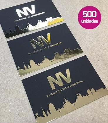 Tarjetas stamping con relieve 3D 500 unidades