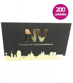 Tarjetas stamping con relieve 3D 200 unidades