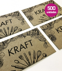 Tarjetas de visita papel kraft 500 unidades