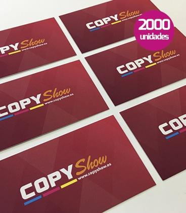 Tarjetas soft touch 2000 unidades