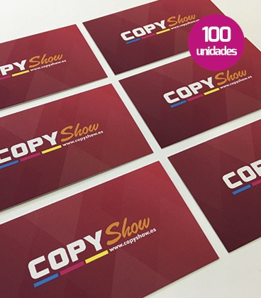Tarjetas soft touch 100 unidades