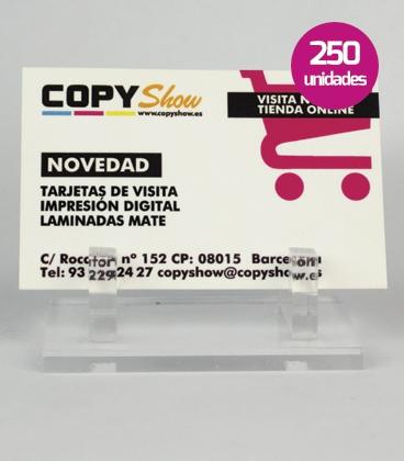Tarjetas impresión digital 250 unidades