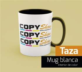 Taza Mug Blanca int. color